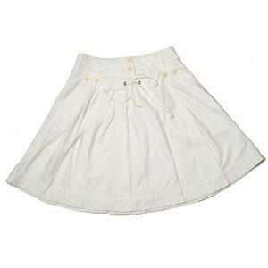 Elevenses Pleated Sailor Skirt In Ivory